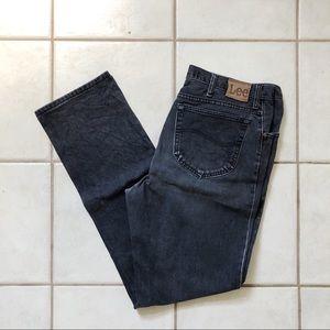 LEE Men's Jeans Regular Fit Black Denim 36x34 Leg